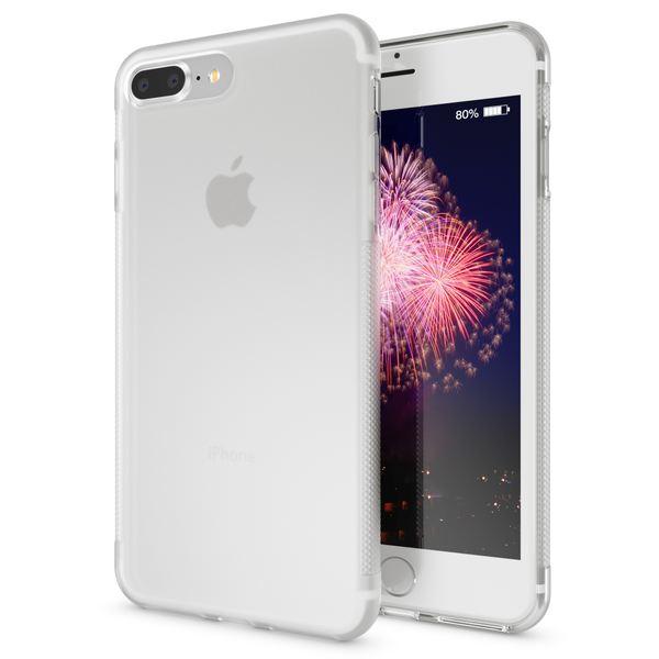 NALIA Handyhülle kompatibel mit iPhone 8 Plus / 7 Plus, Ultra-Slim Silikon Case Gummihülle, Matte Anti-Rutsch Schutz-Hülle Dünn, Etui Handy-Tasche Back-Cover Schale Smart-Phone Bumper - Transparent – Bild 1