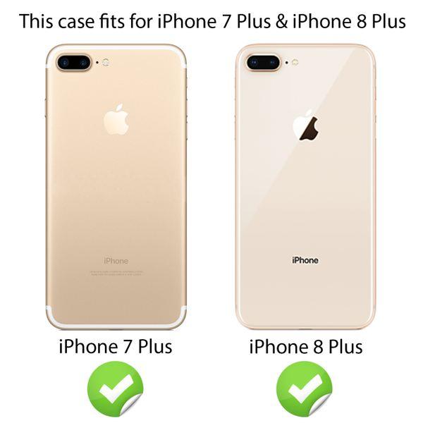 NALIA Handyhülle für iPhone 8 Plus / 7 Plus, Glitzer Ultra-Slim Silikon-Case Back-Cover Schutz-Hülle, Glitter Sparkle Handytasche, Dünnes Bling Strass Etui für Apple iP-7+ / 8+ - Silber / Pink – Bild 3