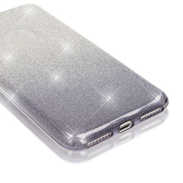 NALIA Handyhülle kompatibel mit iPhone 8 Plus / 7 Plus, Glitzer Ultra-Slim Silikon-Case Back-Cover Schutz-Hülle, Glitter Sparkle Handytasche, Dünnes Bling Strass Smart-Phone Etui - Silber / Grau – Bild 2