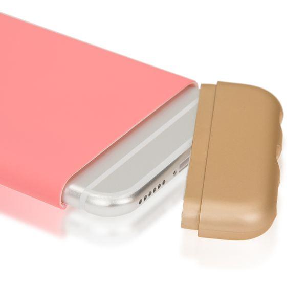 NALIA Handyhülle kompatibel mit iPhone 6 6S, Schutz-Hülle Case Stoßfest, Slider Hardcase Handy-Tasche Dünn, zwei-teiliges Slim Back-Cover Telefon-Schale Thin Smart-Phone Etui Matt Bumper - Rose Gold – Bild 4