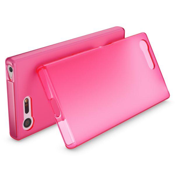 NALIA Handyhülle kompatibel mit Sony Xperia X Compact, Ultra-Slim Silikon Case, Dünne Crystal Schutzhülle, Etui Handy-Tasche Back-Cover Bumper, TPU Phone Gummihülle - Matt Pink – Bild 2