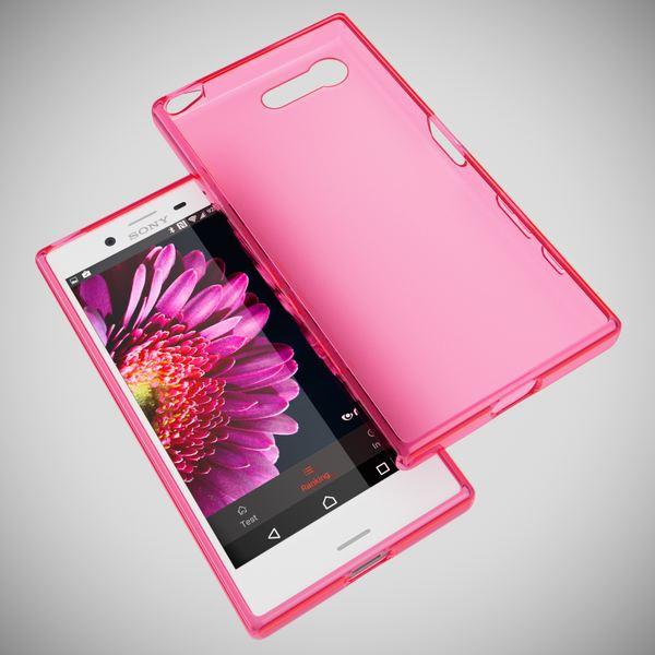 NALIA Handyhülle kompatibel mit Sony Xperia X Compact, Ultra-Slim Silikon Case, Dünne Crystal Schutzhülle, Etui Handy-Tasche Back-Cover Bumper, TPU Phone Gummihülle - Matt Pink – Bild 3