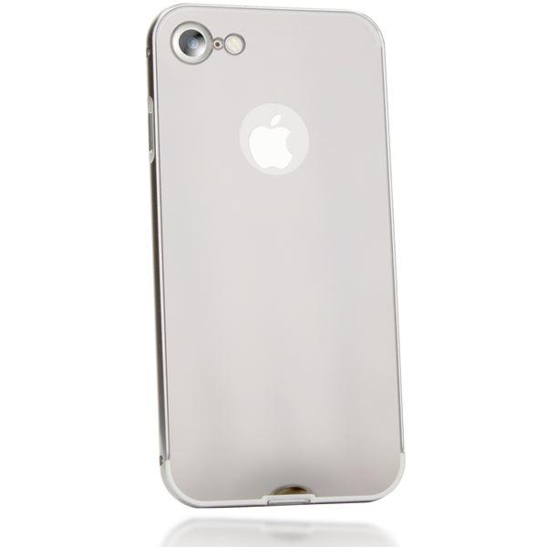 NALIA Spiegel Handyhülle kompatibel mit iPhone 7, Ultra-Slim Mirror Case Cover Hardcase, Dünne Schutz-Hülle Backcover verspiegelt, Handy-Tasche Bumper Telefon-Schale Thin Smart-Phone Etui - Silber – Bild 2