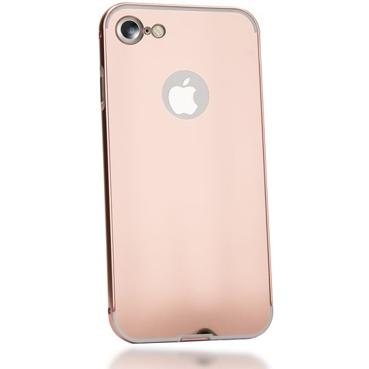 iPhone 7 Spiegel Hülle Handyhülle von NICA, Ultra-Slim Mirror Case Cover Hardcase, Dünne Schutzhülle Backcover verspiegelt, Handy-Tasche Bumper Phone Etui für Apple iPhone-7 Phone - Rose Gold – Bild 2
