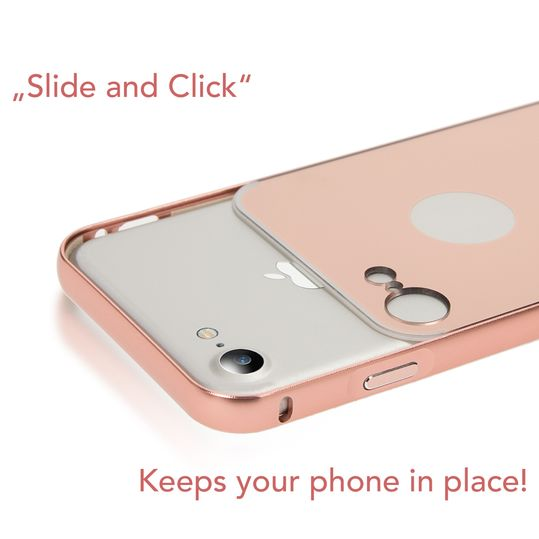 iPhone 7 Spiegel Hülle Handyhülle von NALIA, Ultra-Slim Mirror Case Cover Hardcase, Dünne Schutzhülle Backcover verspiegelt, Handy-Tasche Bumper Phone Etui für Apple iPhone-7 Phone - Rose Gold – Bild 3