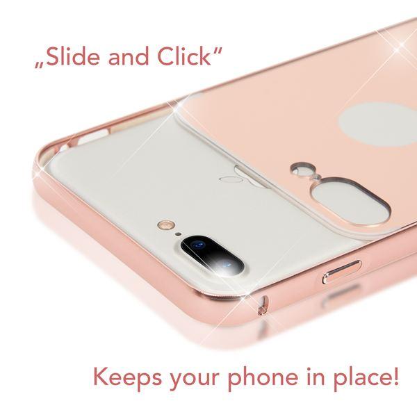 NALIA Spiegel Handyhülle kompatibel mit iPhone 8 Plus / 7 Plus, Ultra-Slim Mirror Cover Hard-Case, Dünnes Backcover Schutz-Hülle verspiegelt, Handy-Tasche Bumper Schale Smart-Phone Etui - Schwarz – Bild 3