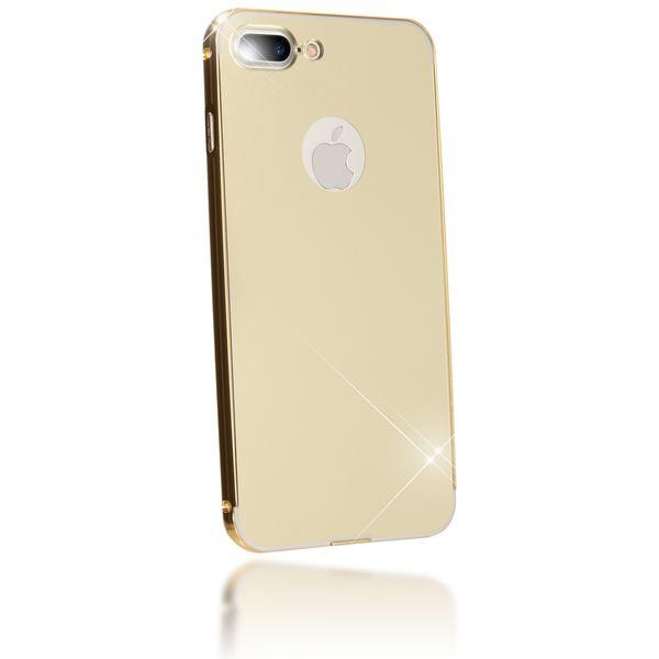 NALIA Spiegel Handyhülle kompatibel mit iPhone 8 Plus / 7 Plus, Ultra-Slim Mirror Cover Hard-Case, Dünnes Backcover Schutz-Hülle verspiegelt, Handy-Tasche Bumper Schale Thin Smart-Phone Etui - Gold – Bild 2