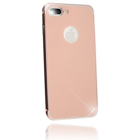 iPhone 8 Plus / 7 Plus Spiegel Hülle Handyhülle von NICA, Ultra-Slim Mirror Cover Hard-Case, Dünnes Backcover Schutz verspiegelt, Handy-Tasche Bumper Phone Etui für Apple iPhone 7+ / 8+ - Rose Gold – Bild 2