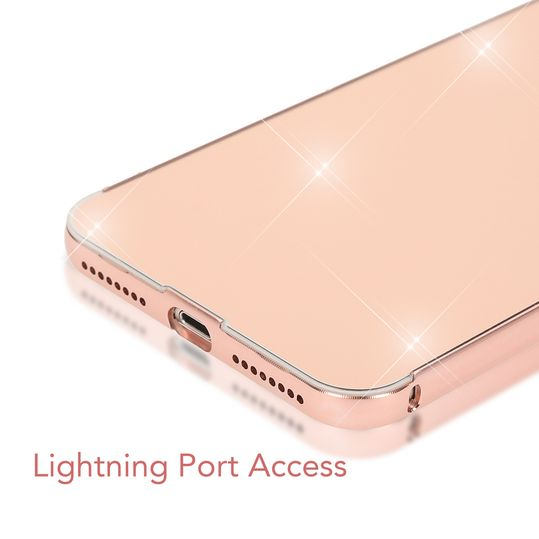 iPhone 8 Plus / 7 Plus Spiegel Hülle Handyhülle von NICA, Ultra-Slim Mirror Cover Hard-Case, Dünnes Backcover Schutz verspiegelt, Handy-Tasche Bumper Phone Etui für Apple iPhone 7+ / 8+ - Rose Gold – Bild 6