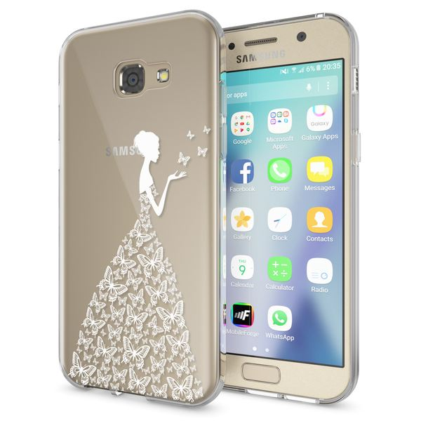NALIA Handyhülle kompatibel mit Samsung Galaxy A5 2017, Slim Silikon Motiv Case Cover Schutz-Hülle Dünn Durchsichtig Etui Handy-Tasche Backcover Transparent Bumper – Bild 14