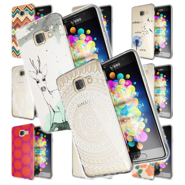 NALIA Handyhülle kompatibel mit Samsung Galaxy A3 2017, Ultra-Slim Silikon Motiv Case Cover Hülle Dünn Durchsichtig Etui Handy-Tasche Backcover Transparent Bumper – Bild 1