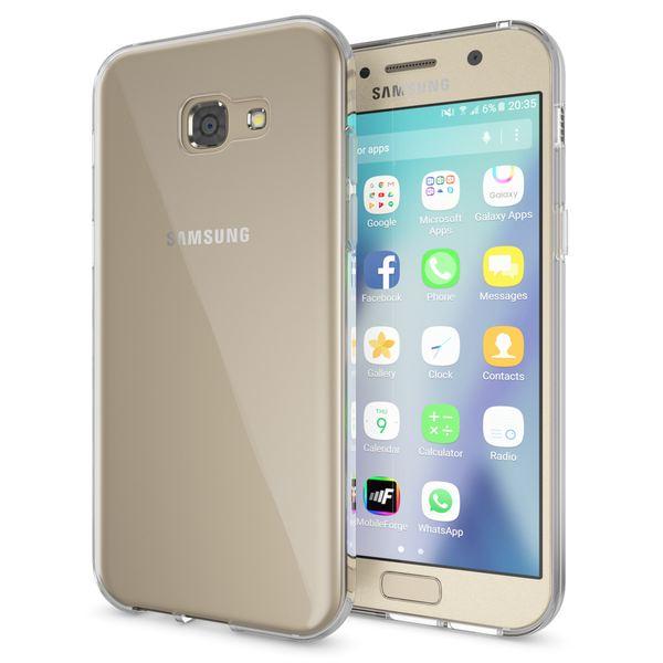 NALIA Handyhülle kompatibel mit Samsung Galaxy A5 2017, Slim Hülle Silikon Case Cover Crystal Clear Schutzhülle Dünn Durchsichtig, Etui Handy-Tasche Back-Cover Schutz Smart-Phone Bumper - Transparent – Bild 1