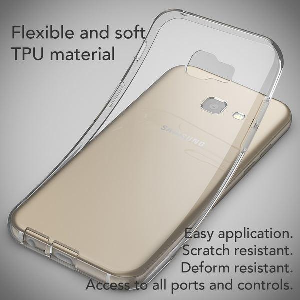 NALIA Handyhülle kompatibel mit Samsung Galaxy A5 2017, Slim Hülle Silikon Case Cover Crystal Clear Schutzhülle Dünn Durchsichtig, Etui Handy-Tasche Back-Cover Schutz Smart-Phone Bumper - Transparent – Bild 5