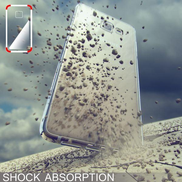 NALIA Handyhülle kompatibel mit Samsung Galaxy A3 2017, Ultra-Slim TPU Silikon Jelly Case, Dünne Gummi Schutzhülle Skin, Etui Handy-Tasche Telefon-Schale Thin Back-Cover Smart-Phone Bumper - Schwarz – Bild 5