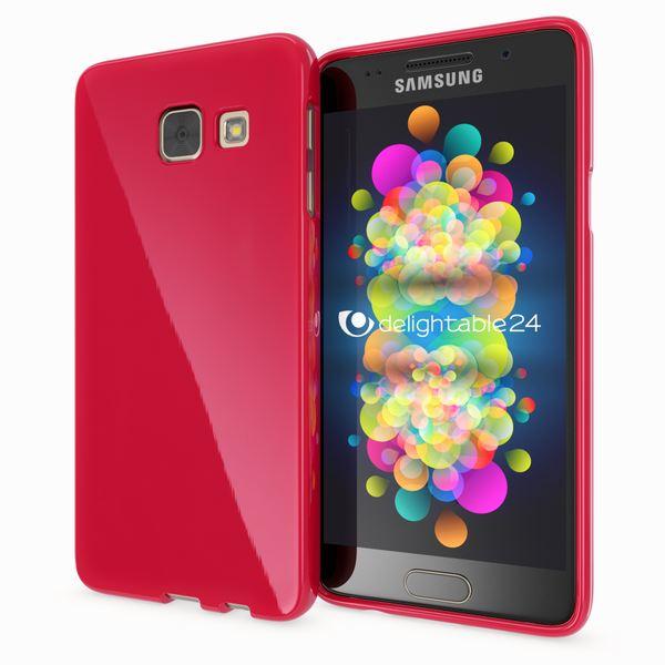 NALIA Handyhülle kompatibel mit Samsung Galaxy A3 2017, Ultra-Slim TPU Silikon Jelly Case, Dünne Gummi Schutzhülle Skin, Etui Handy-Tasche Telefon-Schale Thin Back-Cover Smart-Phone Bumper - Rot – Bild 1