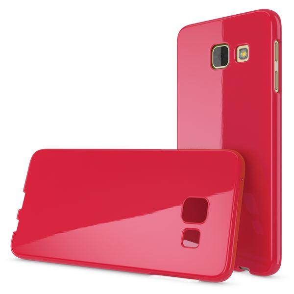 NALIA Handyhülle kompatibel mit Samsung Galaxy A3 2017, Ultra-Slim TPU Silikon Jelly Case, Dünne Gummi Schutzhülle Skin, Etui Handy-Tasche Telefon-Schale Thin Back-Cover Smart-Phone Bumper - Rot – Bild 4