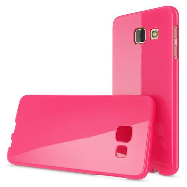 NALIA Handyhülle kompatibel mit Samsung Galaxy A3 2017, Ultra-Slim TPU Silikon Jelly Case, Dünne Gummi Schutzhülle Skin, Etui Handy-Tasche Telefon-Schale Thin Back-Cover Smart-Phone Bumper - Pink – Bild 4