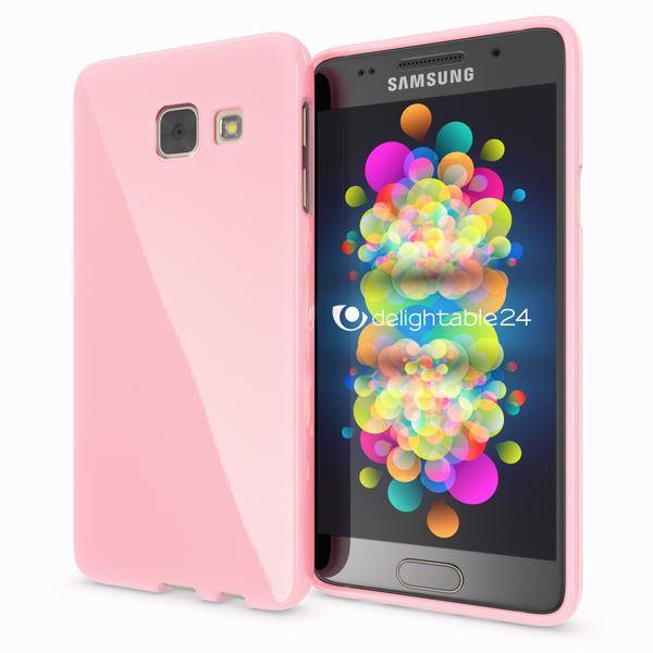 NALIA Handyhülle kompatibel mit Samsung Galaxy A3 2017, Ultra-Slim TPU Silikon Jelly Case, Dünne Gummi Schutzhülle Skin, Etui Handy-Tasche Telefon-Schale Thin Back-Cover Smart-Phone Bumper - Rosa – Bild 1