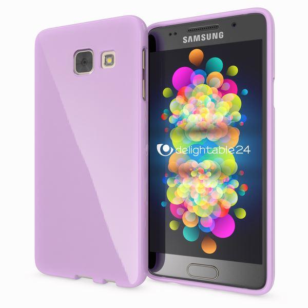 NALIA Handyhülle kompatibel mit Samsung Galaxy A3 2017, Ultra-Slim TPU Silikon Jelly Case, Dünne Gummi Schutzhülle Skin, Etui Handy-Tasche Telefon-Schale Thin Back-Cover Smart-Phone Bumper - Lila – Bild 1