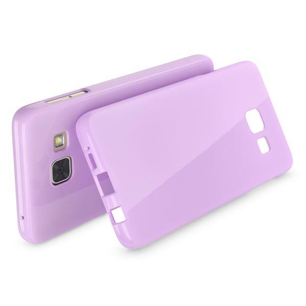 NALIA Handyhülle kompatibel mit Samsung Galaxy A3 2017, Ultra-Slim TPU Silikon Jelly Case, Dünne Gummi Schutzhülle Skin, Etui Handy-Tasche Telefon-Schale Thin Back-Cover Smart-Phone Bumper - Lila – Bild 2