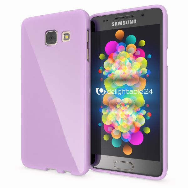 NALIA Handyhülle kompatibel mit Samsung Galaxy A5 2017, Ultra-Slim TPU Silikon Jelly Case Hülle, Dünne Gummi Schutzhülle Skin, Etui Handy-Tasche Telefon-Schale Back-Cover Smart-Phone Bumper - Lila – Bild 1