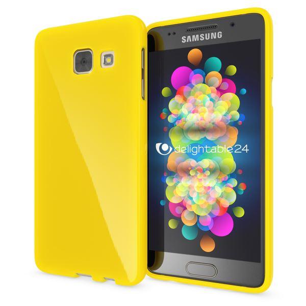 NALIA Handyhülle kompatibel mit Samsung Galaxy A5 2017, Ultra-Slim TPU Silikon Jelly Case Hülle, Dünne Gummi Schutzhülle Skin, Etui Handy-Tasche Telefon-Schale Back-Cover Smart-Phone Bumper - Gelb – Bild 1