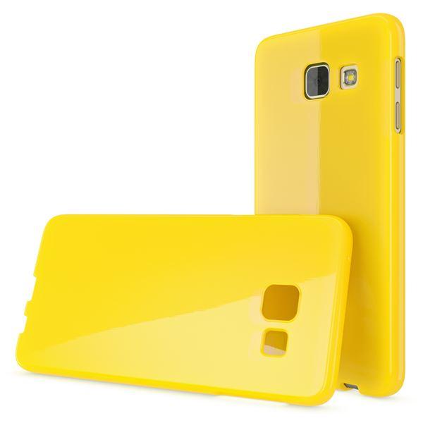 NALIA Handyhülle kompatibel mit Samsung Galaxy A5 2017, Ultra-Slim TPU Silikon Jelly Case Hülle, Dünne Gummi Schutzhülle Skin, Etui Handy-Tasche Telefon-Schale Back-Cover Smart-Phone Bumper - Gelb – Bild 5