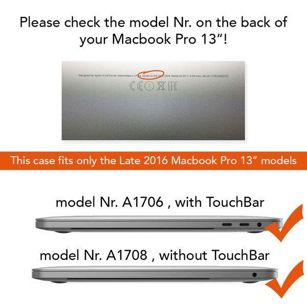 NALIA Hardcase Hülle für Macbook Pro 13 Zoll 2016, Ultra-Slim Case Schutzhülle Matt, Transparent Protector Sleeve Hartschale, Front& Back-Cover Laptop Tasche Skin Dünn Durchsichtig  – Bild 23