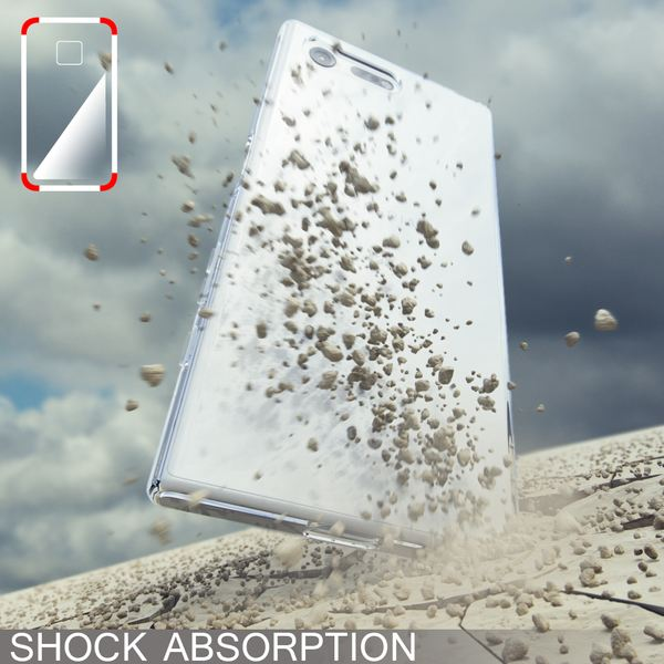 NALIA Handyhülle kompatibel mit Sony Xperia X Compact, Ultra-Slim Silikon Case, Dünne Crystal Schutzhülle, Etui Handy-Tasche Back-Cover Bumper, TPU Phone Gummihülle - Matt Schwarz – Bild 6