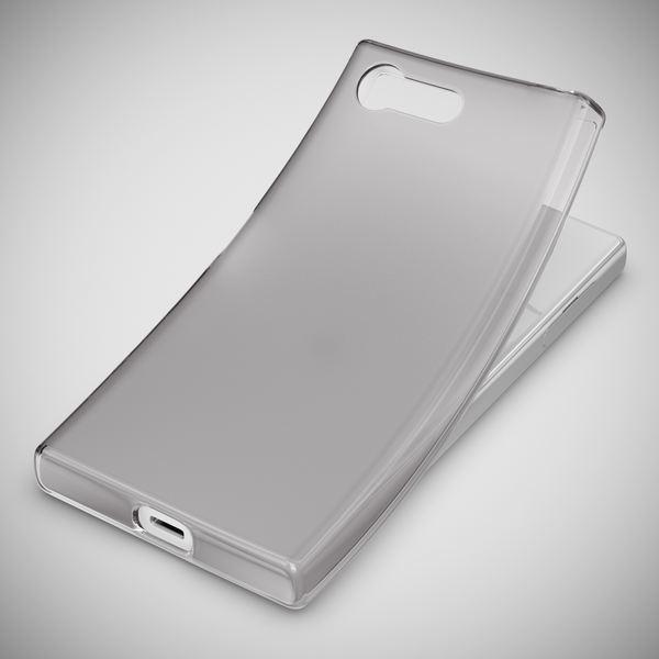 NALIA Handyhülle kompatibel mit Sony Xperia X Compact, Ultra-Slim Silikon Case, Dünne Crystal Schutzhülle, Etui Handy-Tasche Back-Cover Bumper, TPU Phone Gummihülle - Matt Schwarz – Bild 5