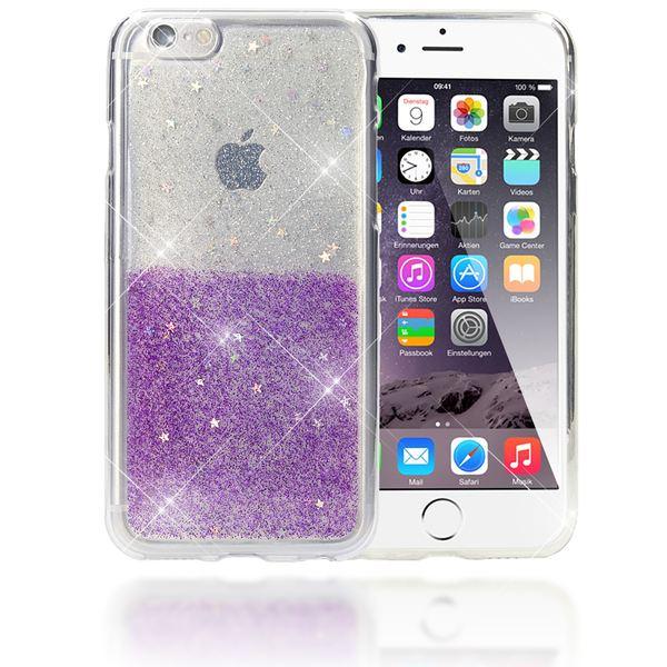 NALIA Handyhülle kompatibel mit iPhone 6 6S, Glitzer Sterne Slim Silikon-Case Back-Cover Schutz-Hülle, Glitter Stars Sparkle Handy-Tasche Schale Dünnes Bling Smart-Phone Etui – Bild 17