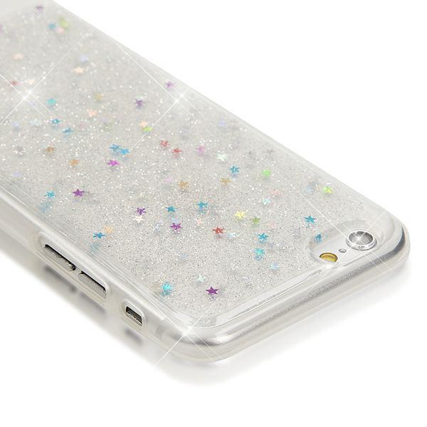 NALIA Handyhülle kompatibel mit iPhone 6 6S, Glitzer Sterne Slim Silikon-Case Back-Cover Schutz-Hülle, Glitter Stars Sparkle Handy-Tasche Schale Dünnes Bling Smart-Phone Etui – Bild 13