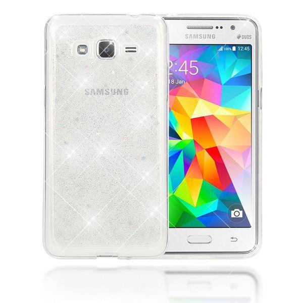 NALIA Handyhülle kompatibel mit Samsung Galaxy Grand Prime, Glitzer Sterne Slim Silikon-Case Back-Cover Schutzhülle, Glitter Stars Handy-Tasche, Dünnes Bling Strass Phone Etui – Bild 2