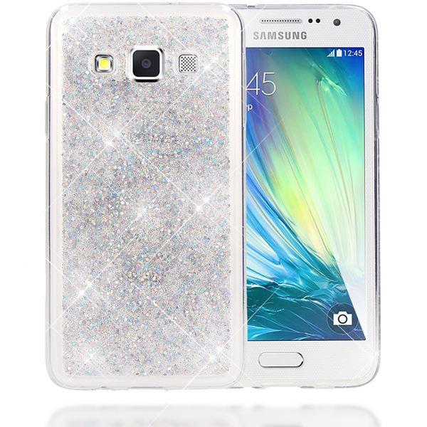 NALIA Handyhülle kompatibel mit Samsung Galaxy A3 2015, Glitzer Sterne Hülle Slim Silikon-Case Back-Cover Schutzhülle, Glitter Stars Handy-Tasche, Dünnes Bling Strass Phone Etui – Bild 22