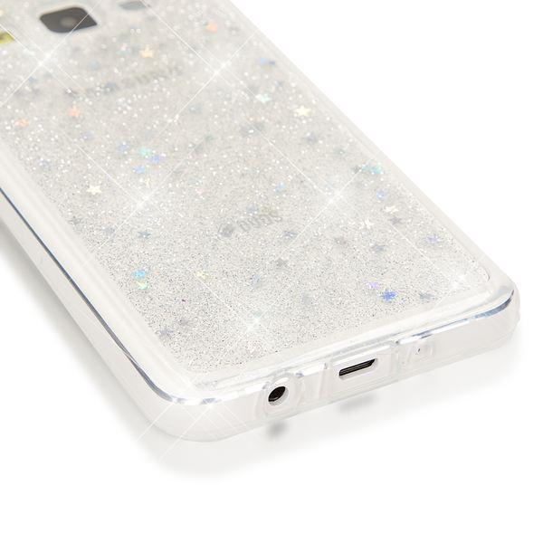 NALIA Handyhülle kompatibel mit Samsung Galaxy A3 2015, Glitzer Sterne Hülle Slim Silikon-Case Back-Cover Schutzhülle, Glitter Stars Handy-Tasche, Dünnes Bling Strass Phone Etui – Bild 5