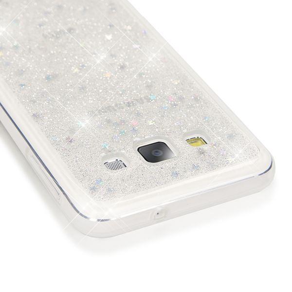 NALIA Handyhülle kompatibel mit Samsung Galaxy A3 2015, Glitzer Sterne Hülle Slim Silikon-Case Back-Cover Schutzhülle, Glitter Stars Handy-Tasche, Dünnes Bling Strass Phone Etui – Bild 3