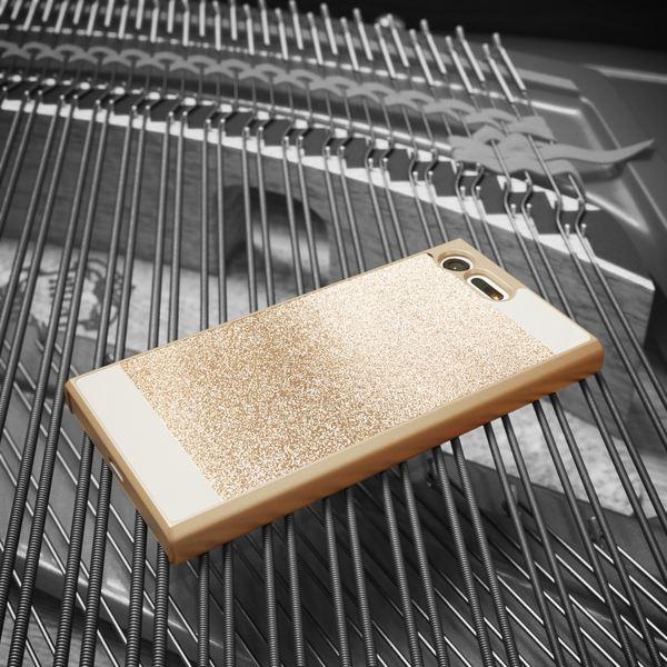 NALIA Handyhülle kompatibel mit Sony Xperia X Compact, Glitzer Slim Hard-Case Back-Cover Schutzhülle Handy-Tasche im Glitter Sparkle Design Dünnes Bling Strass Etui Skin – Bild 4