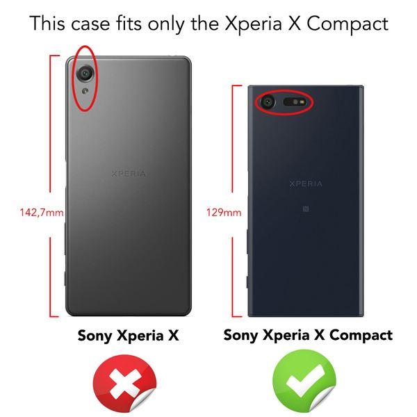 NALIA Handyhülle kompatibel mit Sony Xperia X Compact, Glitzer Slim Hard-Case Back-Cover Schutzhülle Handy-Tasche im Glitter Sparkle Design Dünnes Bling Strass Etui Skin – Bild 10