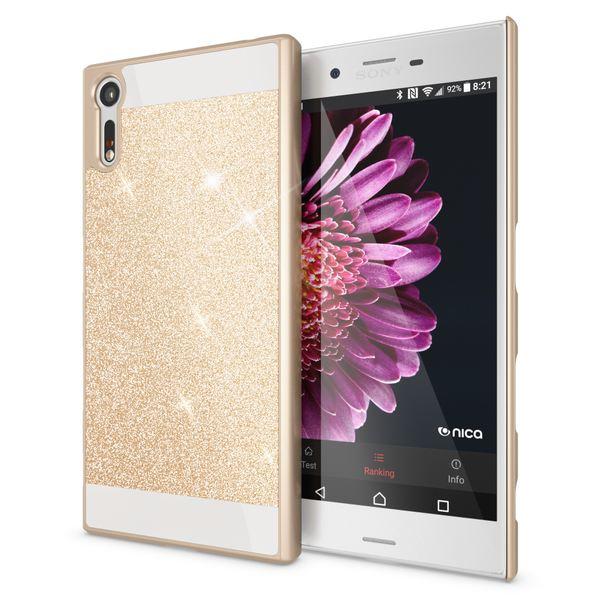 NALIA Handyhülle kompatibel mit Sony Xperia XZ, Glitzer Slim Hard-Case Back-Cover Schutzhülle, Handy-Tasche im Glitter Design Dünnes Bling Strass Etui Skin Smart-Phone – Bild 2