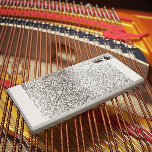 NALIA Handyhülle kompatibel mit Sony Xperia XZ, Glitzer Slim Hard-Case Back-Cover Schutzhülle, Handy-Tasche im Glitter Design Dünnes Bling Strass Etui Skin Smart-Phone – Bild 9
