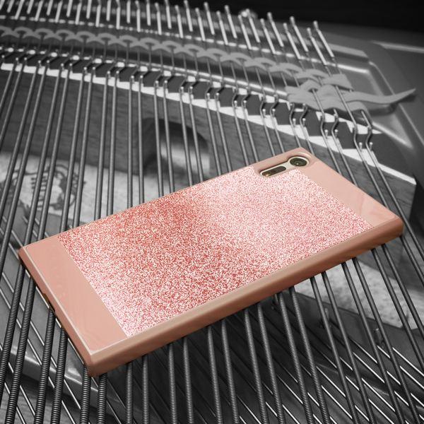 NALIA Handyhülle kompatibel mit Sony Xperia XZ, Glitzer Slim Hard-Case Back-Cover Schutzhülle, Handy-Tasche im Glitter Design Dünnes Bling Strass Etui Skin Smart-Phone – Bild 13