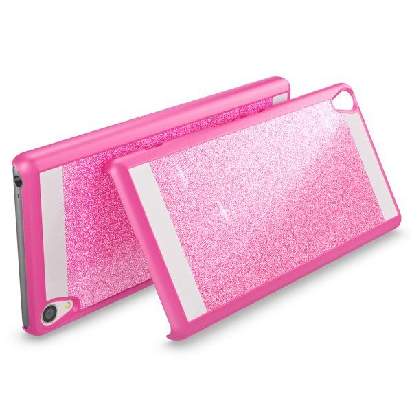 NALIA Handyhülle kompatibel mit Sony Xperia XA, Glitzer Slim Hard-Case Back-Cover Schutzhülle, Handy-Tasche im Glitter Design, Dünnes Bling Strass Etui Smart-Phone Skin  – Bild 3