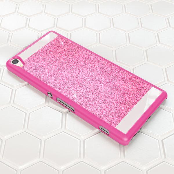 NALIA Handyhülle kompatibel mit Sony Xperia XA, Glitzer Slim Hard-Case Back-Cover Schutzhülle, Handy-Tasche im Glitter Design, Dünnes Bling Strass Etui Smart-Phone Skin  – Bild 5