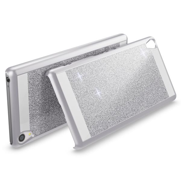 NALIA Handyhülle kompatibel mit Sony Xperia XA, Glitzer Slim Hard-Case Back-Cover Schutzhülle, Handy-Tasche im Glitter Design, Dünnes Bling Strass Etui Smart-Phone Skin  – Bild 15