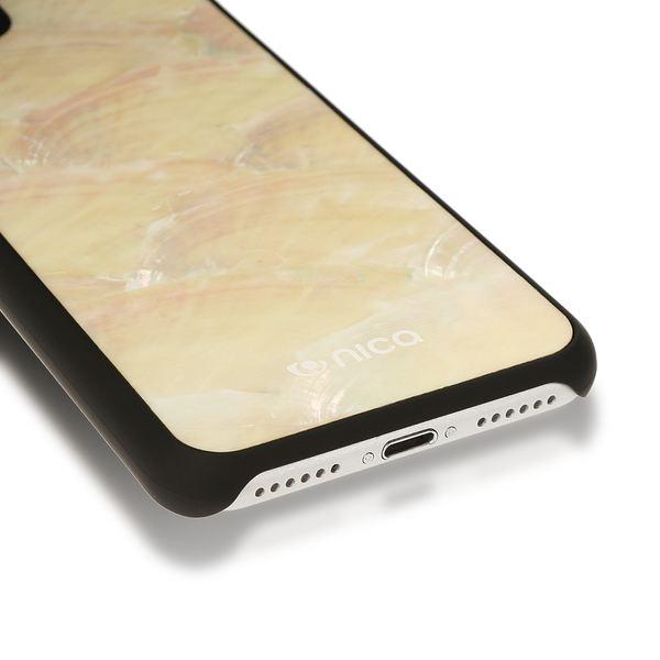 NALIA Muschel Handyhülle für Apple iPhone 8 / 7, Echtes Perlmutt Slim Case Schutz-Hülle 3D Hardcase Dünner Glitzer Handmade Bumper Cover Etui Backcover Handy-Tasche für iPhone 7 / 8 – Bild 4
