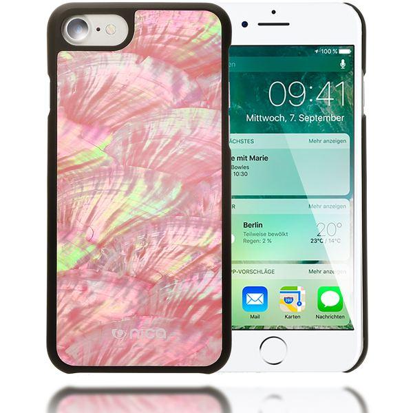 NALIA Muschel Handyhülle für Apple iPhone 8 / 7, Echtes Perlmutt Slim Case Schutz-Hülle 3D Hardcase Dünner Glitzer Handmade Bumper Cover Etui Backcover Handy-Tasche für iPhone 7 / 8 – Bild 8