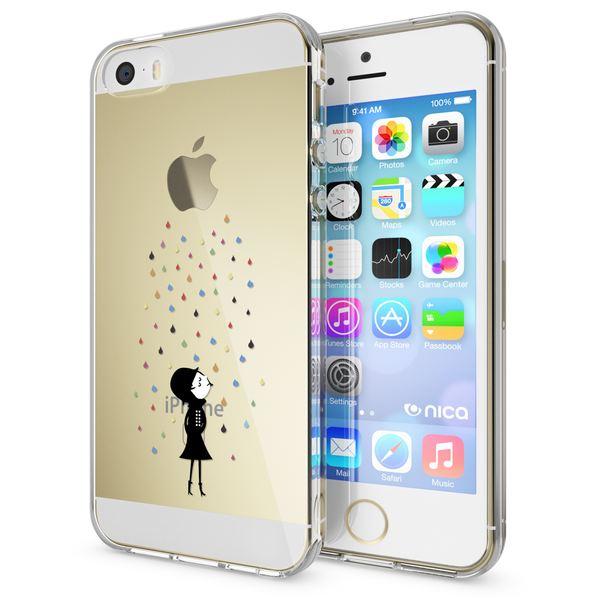 NALIA Handyhülle kompatibel mit iPhone SE 5 5S, Ultra-Slim Silikon Motiv Case Schutzhülle Dünn Durchsichtig, Etui Handy-Tasche Schale Back-Cover Transparent Smart-Phone – Bild 8