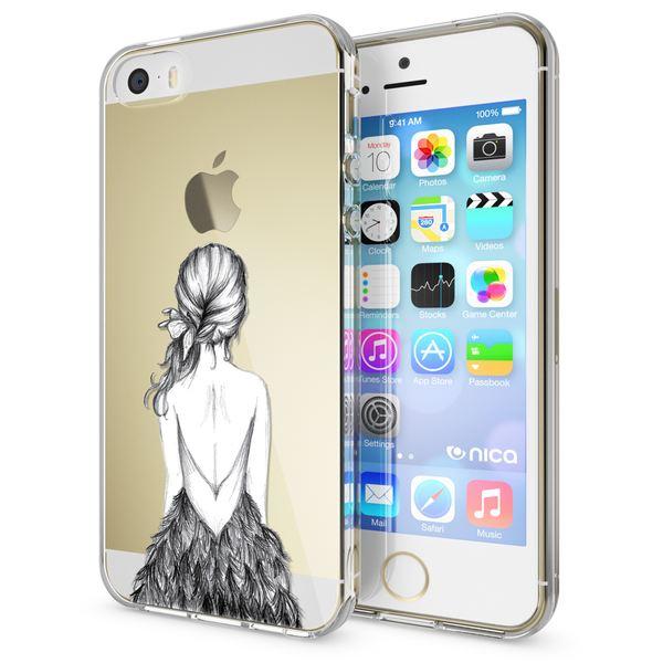 NALIA Handyhülle kompatibel mit iPhone SE 5 5S, Ultra-Slim Silikon Motiv Case Schutzhülle Dünn Durchsichtig, Etui Handy-Tasche Schale Back-Cover Transparent Smart-Phone – Bild 14