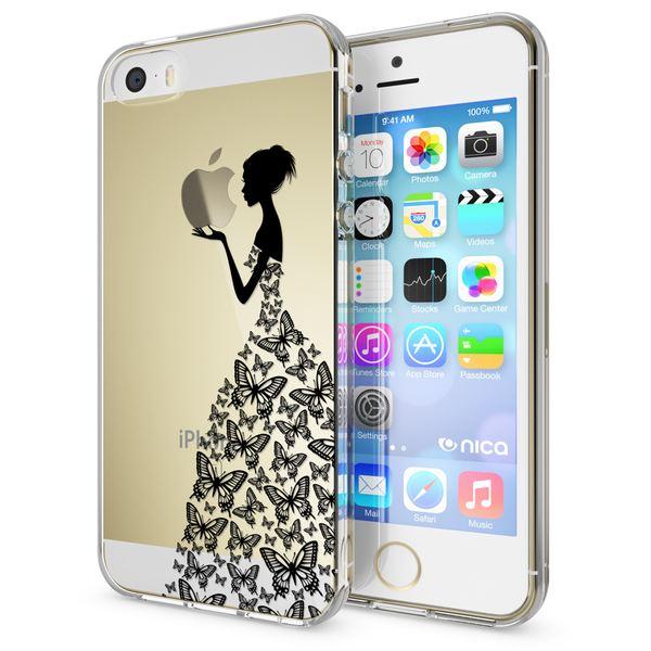 NALIA Handyhülle kompatibel mit iPhone SE 5 5S, Ultra-Slim Silikon Motiv Case Schutzhülle Dünn Durchsichtig, Etui Handy-Tasche Schale Back-Cover Transparent Smart-Phone – Bild 16