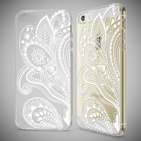 NALIA Handyhülle kompatibel mit iPhone SE 5 5S, Ultra-Slim Silikon Motiv Case Schutzhülle Dünn Durchsichtig, Etui Handy-Tasche Schale Back-Cover Transparent Smart-Phone – Bild 21